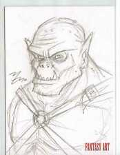 Fantasy Art Sketch Card by Mike Vasquez /2 - Unstoppable Loaded Pack Release