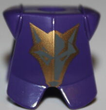 LeGo Castle Dark Purple Danju Euro Body Armor Wolf Pattern Minifig Neckgear NEW