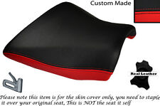 BLACK & RED CUSTOM FITS KAWASAKI Z750 Z1000 04-06 DESIGN 2 FRONT SEAT COVER