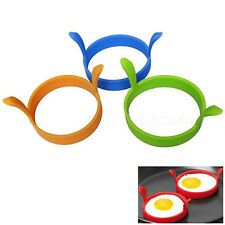 Silicone Egg Cook Fried Mold Oven Poacher Pancake Ring Mould Kitchen Gadget Tool