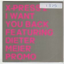 (EY969) X-Press 2, I Want You Back ft Dieter Meier - 2002 DJ CD