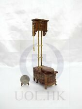 Miniature 1:12 Scale Victorian High Water Tank Toilet [Finished in walnut]