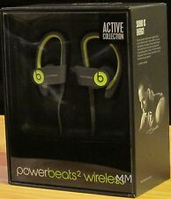 BEATS POWERBEATS2 WIRELESS ACTIVE COLLECTION HEADPHONES DR DRE-SHOCK YELLOW-NEW!