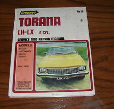 holden torana LH -  LX 6cylm service and repair manual