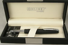 Online Germany Business Line Black Rubberized & Chrome Rollerball Pen - New