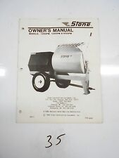 Stone Cement Mixer 1265PM 1285PM 1650PM Owner's Manual 56002 1989