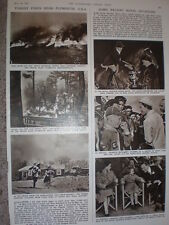 Photo article forest fires near Plymouth USA 1957