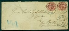 German States - Schleswig-Holstein 1 1/3s carmine (#23) pair tied on cover