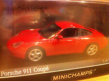PORSCHE 911  CARRERA COUPE 1998 TYPE 996 1/43 MINICHAMPS  RED