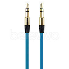 BLUE 3.5MM AUDIO AUX CABLE LEAD FOR MONSTER BEATS BY DR DRE SOLO, MIXR, STUDIO