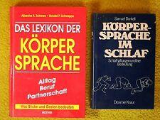 2 x Bücher - Körpersprache im Schlaf, Geste - Lexikon - Geheimnisse der Esoterik