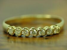 18kt 750 GOLD RING MIT 0,28ct BRILLANT BESATZ / DIAMANT / RG 60,5 / 2,1g