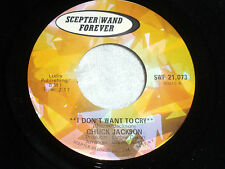 Chuck Jackson:  I Don't Want to Cry / Beg Me  [Unplayed Copy]