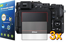 3x Clear LCD Screen Protector Guard Cover Film Nikon COOLPIX P7700 P7800 S9900