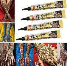 4 x Golecha henné Pâte noir en Tubes a 25g Mehendi Tatouage - Testé cliniquement