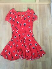 EX TOPSHOP SUN / TEA DRESS BRAND NEW SIZE 6 RED FLOWER PRINT (7)