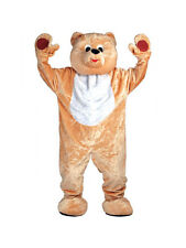 Giant Deluxe Teddy Bear Mascot Adult Costume One Size Forrest Woods Height 6'4""
