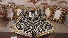 CHLOE AUTHENTIC HIGH WAIST YELLOW GEOMETRIC FLORAL SHORTS UK 10 RRP £210 NEW