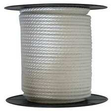 """ANCHOR ROPE DOCK LINE 3/8"""" X 200' BRAIDED 100% NYLON WHITE MADE IN USA"""