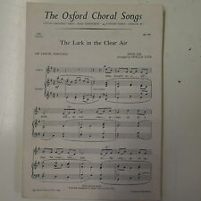 choral/vocali spartito LO LARK IN THE CHIARO ARIA arrangements phyllis tate