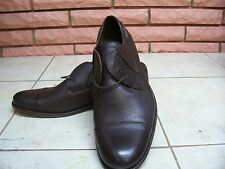 MICHAEL SHANNON LEATHER BROWN OXFORD/STRING UP MEN SHOES SIZE 9 NEW
