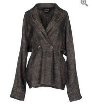 $2.5K Lanvin Tweed Double Breasted Jacket Coat Peplum blazer Fr 40 US 6/8/10