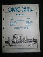 1985 OMC Johnson Evinrude Outboard Parts Catalog Manual 65 HP Commercial