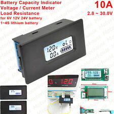 Digital Lithium Li-ion Lipo 12V Battery Meter Voltage Current Capacity Indicator
