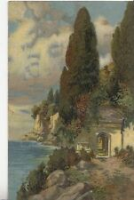 CH29. Vintage German Postcard. Building on the edge of a cliff.