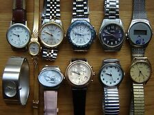 Job Lot of 11 Mixed Quartz Wristwatches - 8 Working, 3 For Spares / Repair