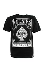 VULGAR VILLAINS ORIGINALS T-SHIRT BLACK STREETWEAR BICYCLE BIKE CARD M-2XL NEW