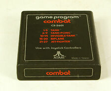 Vintage  Atari 2600 game Combat Text Label Tested  & Working