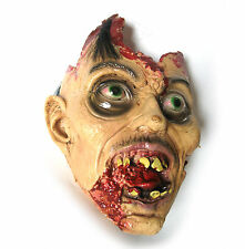 Lifesize Cut Off Zombie Head Exploded Gory Halloween Hanted House Party Prop