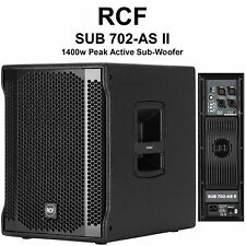 "RCF SUB 702-AS II 1400w Peak Active 12"" Sub-Woofer with Electronic Equalization"