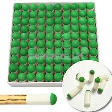 100pcs Plastic 9mm Dia Slip-on Billiards Snooker Pool Stick Pole Cue Tips