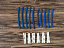 LEGO 12V Eisenbahn 10 Kurven Gebogene Schienen Blau