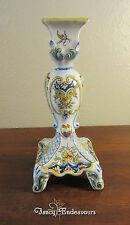 Antique Fourmaintraux Freres French Faience HP Devres Candle Stick Holder