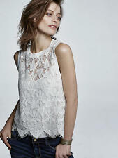 NWT SZ M $68 ANTHROPOLOGIE SCALLOPED LACE TANK BY DELETTA