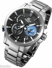 RELOJ CASIO EDIFICE BLUETOOTH SMART SOLAR WATCH HOMBRE HORA MUNDO EQB-600D-1A2ER