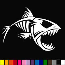 Skeleton Fish Bones Vinyl Decal Sticker Kayak Fishing Car Truck Boat Tribal On
