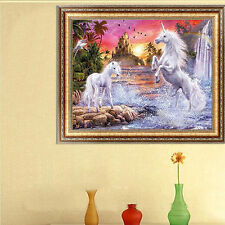 DIY 5D Diamond Two Horse Embroidery Painting Cross Stitch Craft Home Decor