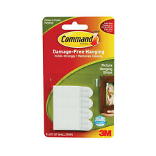 New 3M 17202 Command Small Picture Hanging Strips, White, 4-Strip *