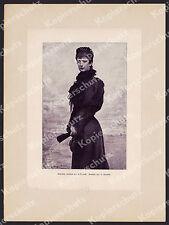 Horovitz póstuma-retrato Sissi emperatriz Isabel adel aristocracia escudo de armas 1899