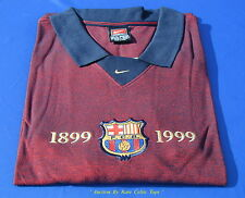 Retro Official Nike 1899-1999 FC Barcelona Centenary Casual Cotton Shirt SS XL