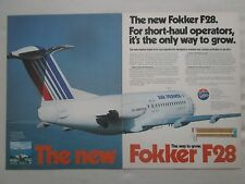 6/1981 PUB FOKKER AIRCRAFT HOLLAND FOKKER F28 AIR FRANCE AIR ALSACE AIRLINE  AD