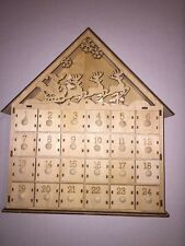 Christmas Lighted Advent Tabletop Calendar German Wood