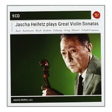 Jascha Heifetz-Jascha Heifetz Plays Sonatas for Violin (9 CD) Bach/+ NUOVO