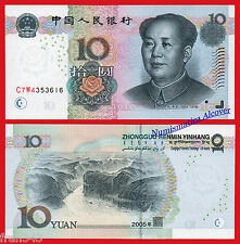 CHINA 10 Yuan 2005 Mao Tse-tung Pick 904 SC  / UNC