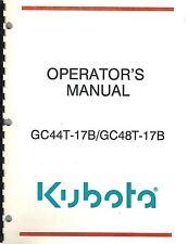 KUBOTA GC44 GC48T-17B  GRASS CATCHER OPERATOR'S MANUAL