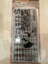 Tim Holtz Clear Acrylic Stamp & Stencil Postal Set by Stampers Anonymous NEW